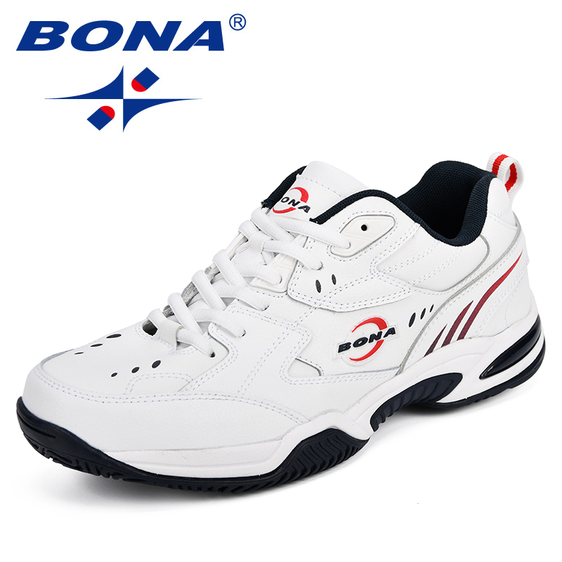 BONA New Designer Men Tennis Shoes Leather Popular Sport Shoes Man Outdoor Trainers Popular Sneakers Shoes Comfortable Footwear new balance in usa m990v4 alpha classic red sneakers retro m990rd4 sport shoes men sneakers nb990 tennis shoes