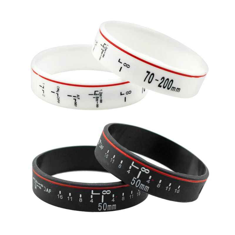 Silicone Camera Lens Wristband Photographer Band Bracelet for Canon Camera Photo Studio Accessories