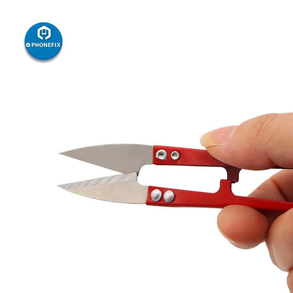 PHONEFIX U Type Sharpe Lente Schaar Slim Kabel Jumper Draad Cutter Knipt MINI Handgemaakte DIY Tailor Tool voor Snijden Draad