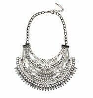 Ücretsiz kargo Takı Marka yeni geldi Çin moda kristal bildirimi kolye ünlü takı siyah mücevherli kolye