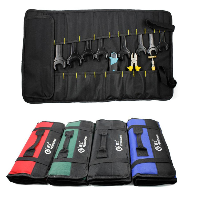 2019 Multifunction Oxford Cloth Folding Wrench Tool Bag Roll Storage Pocket Tools Pouch Portable Case Organizer Holder