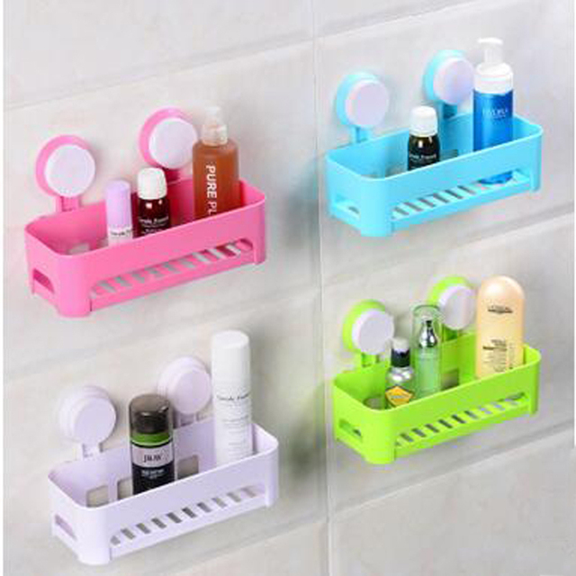 New Arrival Sucker Corner Shelf Bathroom Kitchen ABS+PVC Storage ...