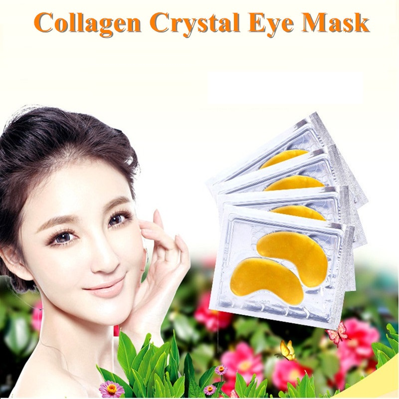 1pair Anti-Wrinkle Crystal Collagen Gold Eye Mask Crystal Eyelid Patch Remove Black Eyes Care