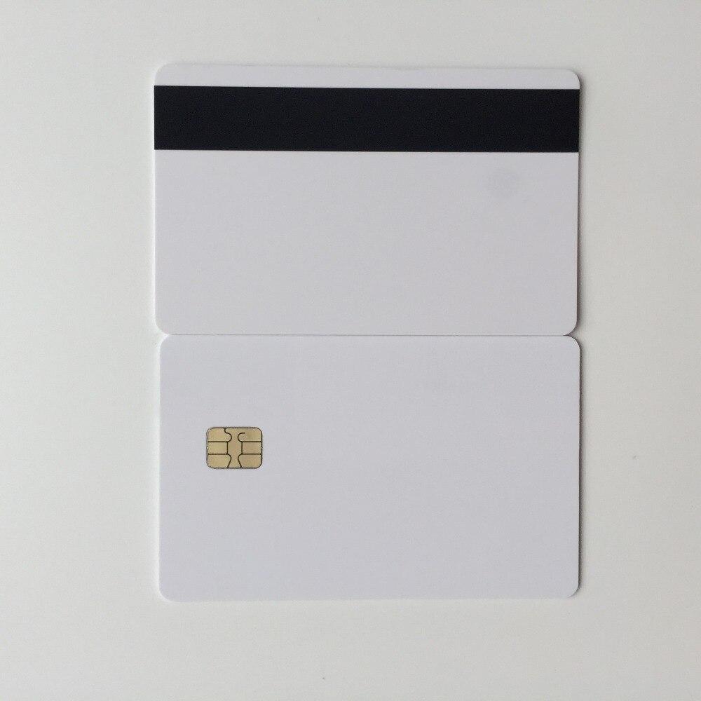 300 teile/los SLE4442 chip karte mit hico streifen inkjet druckbare kontaktieren pvc karte für mitgliedschaft karte supermarkt karte