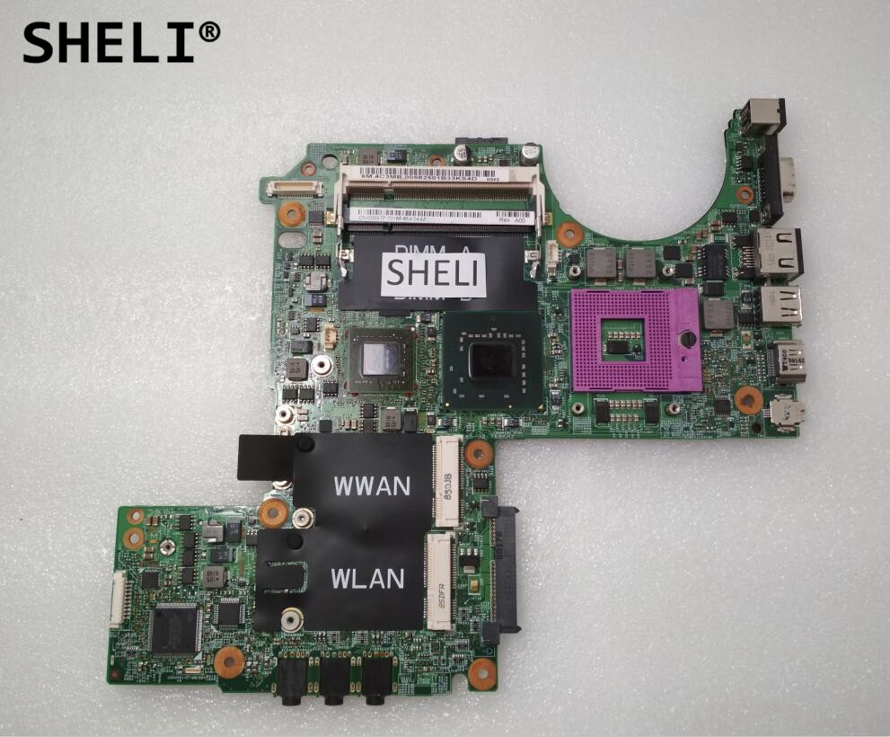 SHELI For Dell M1330 1330 Motherboard With G86-631-A2 Video Card PU073 0K984J K984J  0D057FCX062 P083J D057F  100% Tested