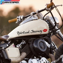 2pcs Spiritual Journey Letters Vinyl Decals Pop Language Customized Car Body Window Glass Stickers Motorcycle Creative Decal