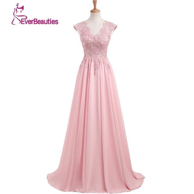 3f64b46bb2 Elegante vestidos De noche largo 2019 nueva ropa interior atractiva con  cuello en V De piso