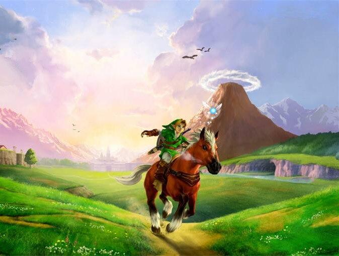 Diamante pintura Cartoon la leyenda de Zelda respiración de la naturaleza Wall Art Picture pintura sobre lienzo inicio decoración de la pared