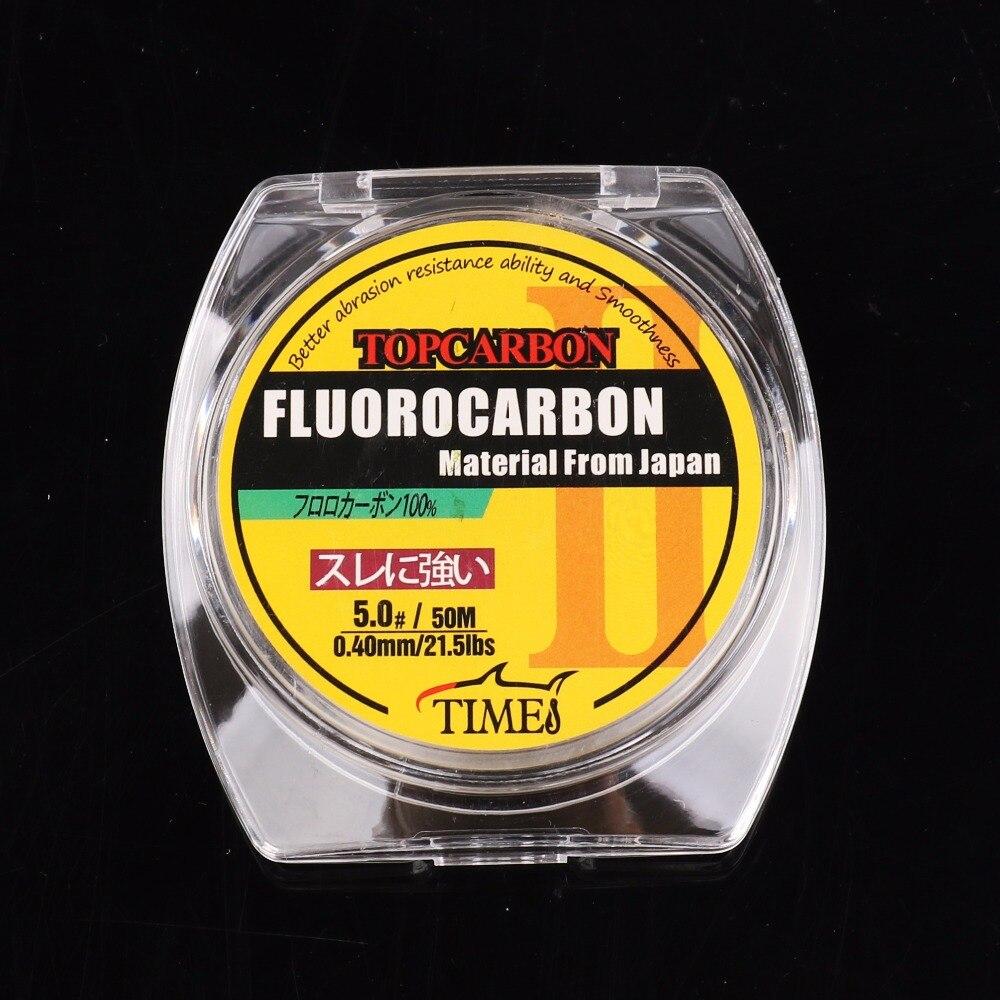 50 mt 4,4-35.2LB Fluor Angeln Linien Hohe Qualität Carbon Faser Fly Angelschnur Klar Transparente Farbe Monofilament Linie