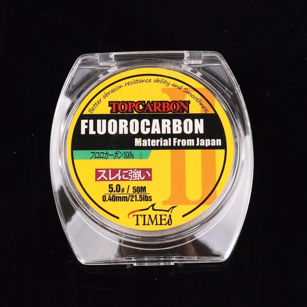 50m 4.4-35.2LB Fluorocarbon vislijnen Hoge kwaliteit koolstofvezel - Visvangst - Foto 2