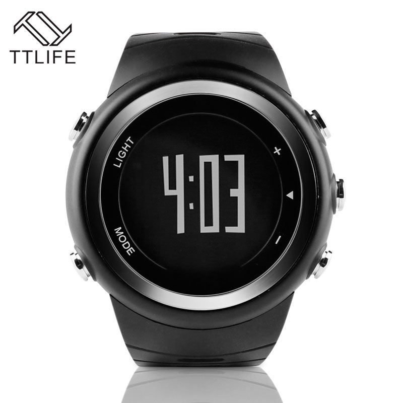 ФОТО TTLIFE Original Men Women 50M Waterproof Digital Watch Pedometer Sports Running Wristwatch Professional Lovers' Smart Watches