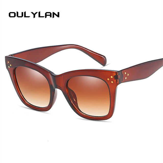 Oulylan Classic Cat Eye Vintage Oversized Gradient UV400 Sunglass 4