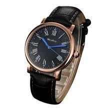 McyKcy Quartz mens Montre-Bracelet De Mode Nombre Romain hommes Montre 2017 Occasionnel En Cuir De Luxe mâle Horloge Montre 2017 de Baisse #20