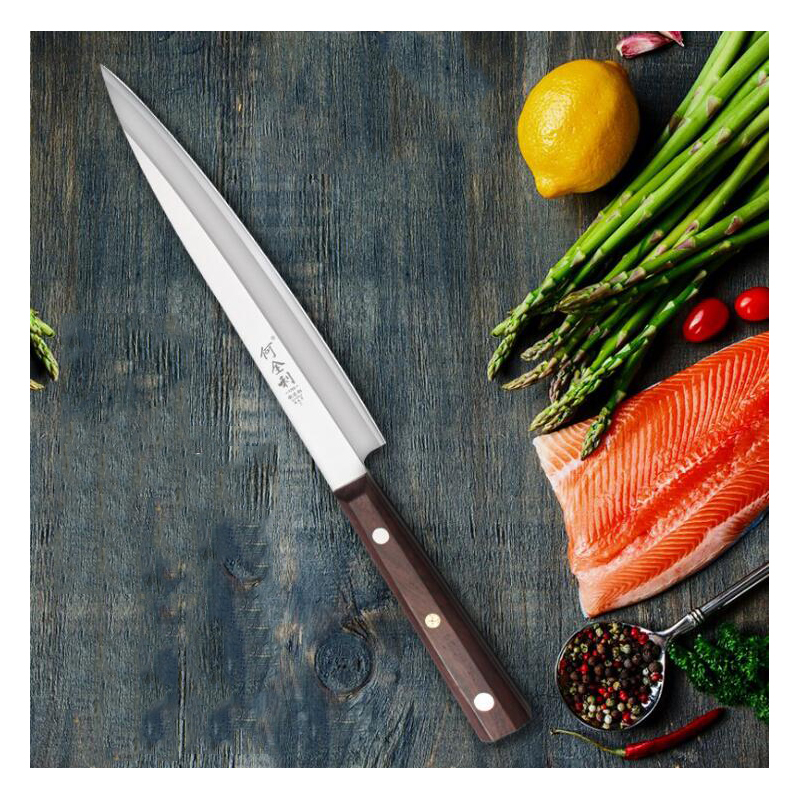 Professional Kitchen Knives Stainless Steel Fish Engraving Laser Salmon Sashimi Sushi Tools Restaurant Filleting Knife
