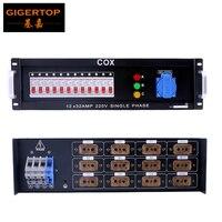 Gigertop 3u Мощность распределительная коробка для события Электрический контроллер 12 Road 4KW Мощность переключатель ABC индикатор Питание коробка