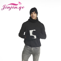 Jinjin.QC 2019 New Men Winter Set Scarf Hat & Glove Sets Wrap and Gloves Warm Accessory Ensemble Chapeau Echarpe Moufles Hivers