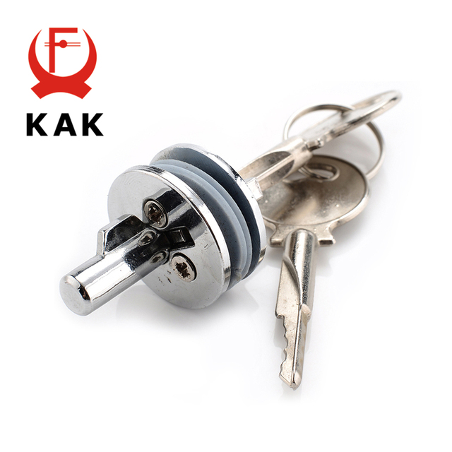 Kak 501 Glass Lock Zinc Alloy Showcase Push Display Cabinet Door Cylinder Locks Sliding