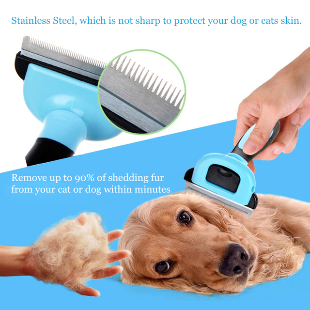 Pet Dog Removal Hair Comb Brush Cat Grooming Tool Furmins Hair Deshedding Clipper Stainless Detachable Dog Cat Brush Furmins S1