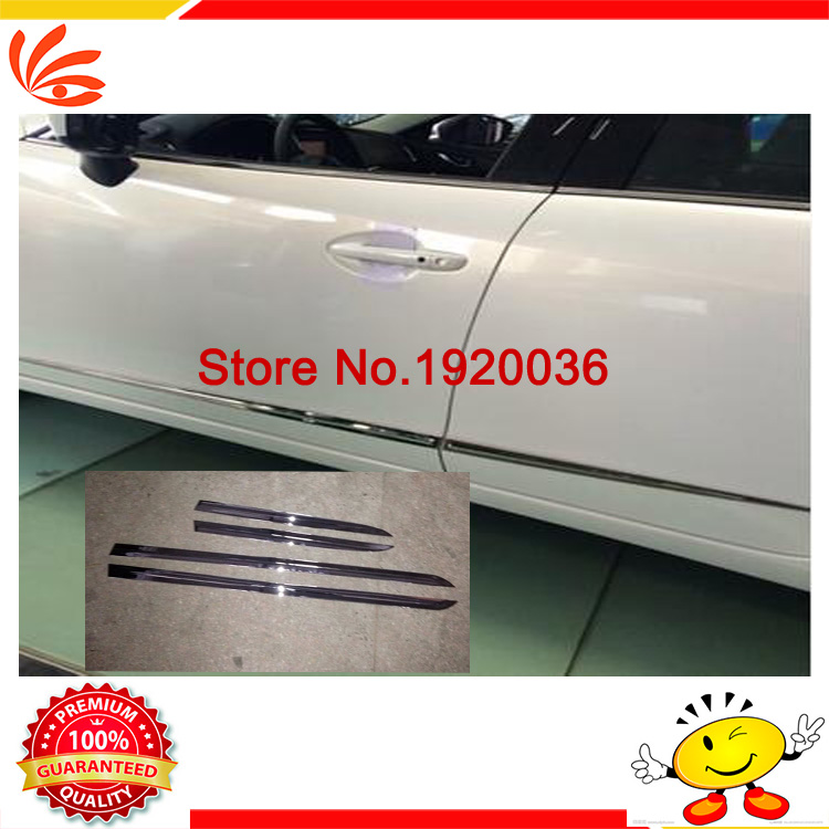 Car styling Chrome Body Side Door Trim Molding Exterior cover for MAZDA 6 ATENZA 2014 Door Side Molding Trim Side Door Trim abs chrome side molding garnish cover trim body kits car styling accessories for jeep grand cherokee 2014 15 16