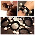 Pearl elastic hair band  headdress Headband Korea head rope Creative rubber band bride bun cute headwear fashion ponytail gift