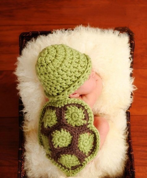 Baby Newborn photography props Turtle Knit Crochet Clothes Beanie Hat Outfit Photo Props Baby photography,baby brand romper hat