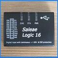 Nuevo USB 100 M Analizador Lógico Saleae Logic16 Saleae16 ARM FPGA Herramienta Decodificador Versión 1.2.10