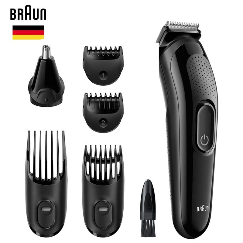 براون 6 في 1 Men 'S ماكينة حلاقة أداة تهذيب اللحية MGK3020 الأذن الأنف الحلاقة الشعر الوجه إزالة تصفيف أداة الوجه رئيس التشذيب كيت-في آلة حلاقة من الجمال والصحة على  مجموعة 1