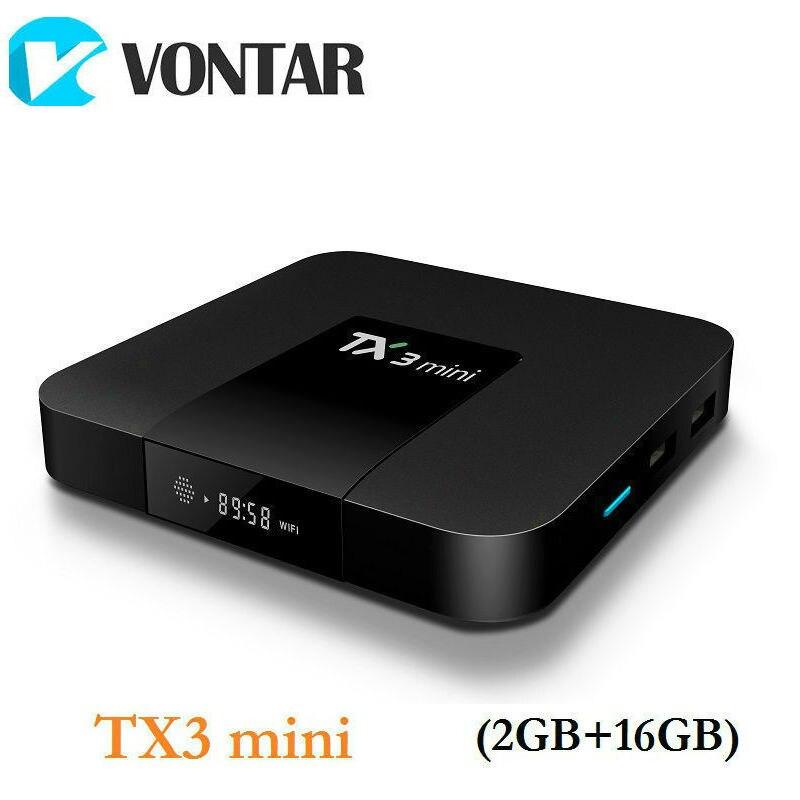 VONTAR TX3 MINI Smart TV BOX Android 7.1 Amlogic S905W Quad Core da 2.4 GHz WiFi Media Player 2GB16GB 1 GB 8 GB TX3mini Set top Box