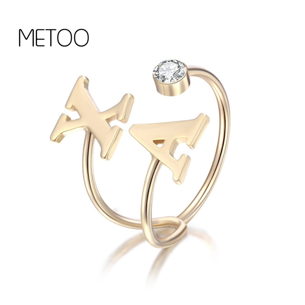 METOO Gold Custom Name Initial Ring Doul Letter Birthstone Ring Gold Alphabet Love Couple Rings for Etsy Personalized JewelryMETOO Gold Custom Name Initial Ring Doul Letter Birthstone Ring Gold Alphabet Love Couple Rings for Etsy Personalized Jewelry