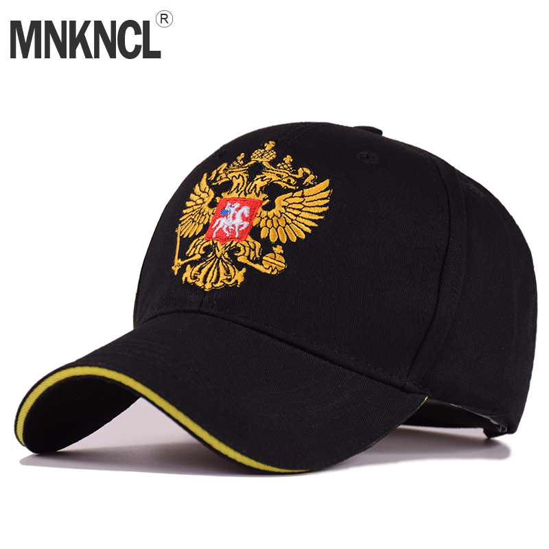 2018 New Russian Double Headed Eagle Embroidery Baseball Cap Cotton Black Navy White Fashion Men Caps Peaked Cap Snapback Hats new unisex 100% cotton outdoor baseball cap russian emblem embroidery snapback fashion sports hats for men