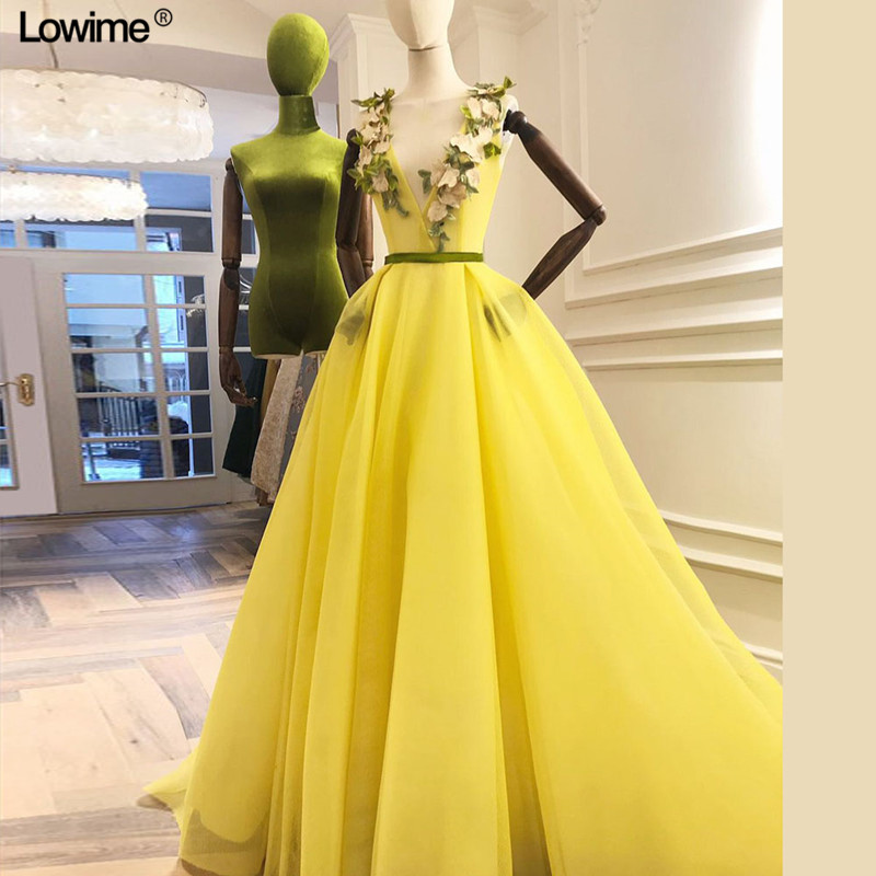 Sexy   Evening     Dress   2018 V-Neck Open Back A Line Long   Evening     Dresses   Party Vestido De Festa Tulle Prom Gowns