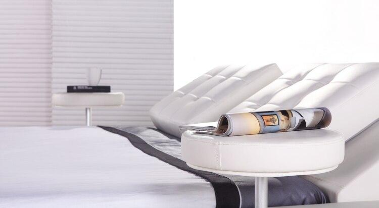 Muebles de dormitorio, diseño moderno europeo, cuero de grano ...
