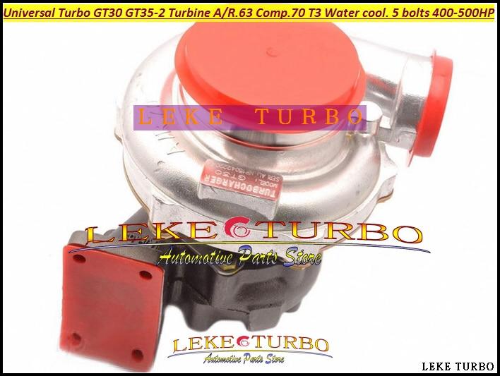 العالمي توربو GT30 GT35 2 التوربينات A/R. 63 شركات. A/R. 70 T3 النفط تبريد فقط الشاحن التربيني. المخرج مع 5 البراغي 400HP 500HP-في مداخل الهواء من السيارات والدراجات النارية على title=