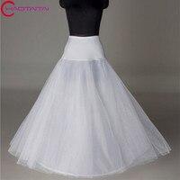 Bridal Phiếu Wedding Lót Trắng Underdress Falda Brautpetticoat Dài Khung Làm Cái Vái Phùng Sottoveste A Line Petticoat Hai Lớp