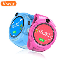 Q360 Vwar Niños Relojes Inteligentes con Pantalla Táctil Cámara de Localización GPS Niño Anti-perdida smartwatch SOS Perseguidor Del Monitor de bebé reloj