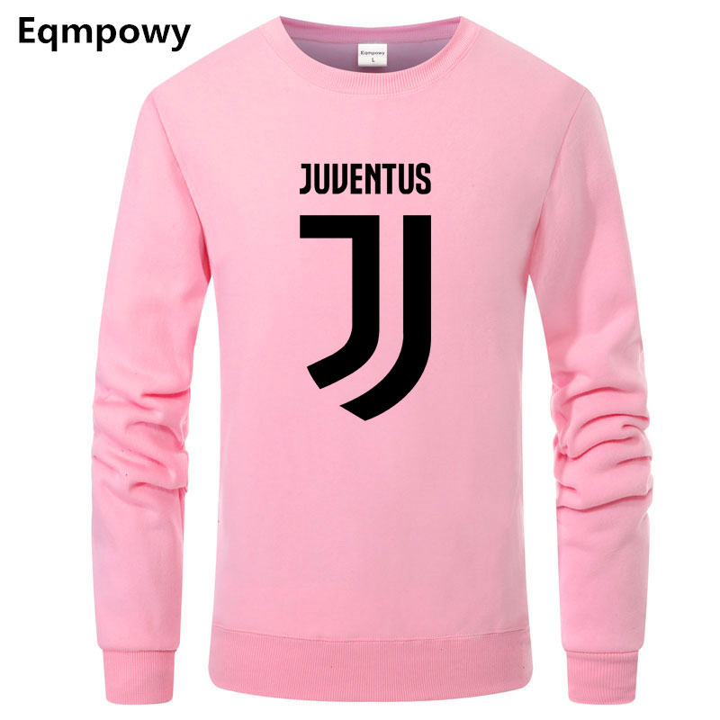 Eqmpowy 2018 Brand New Men Hoodies Pullover Hip Hop Fleece Fashion Juventus Print Sportswear Mens Tracksuit Sweatshirt Clothing