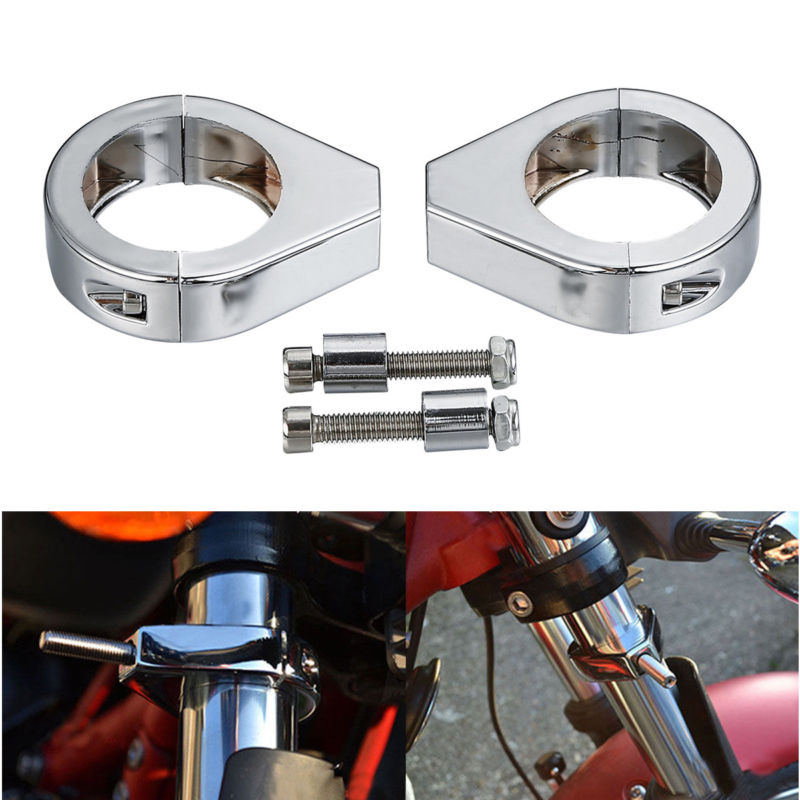 Motorcycle 41mm Fork Clamps Turn Signal Mount Bracket For Harley Softail Fat Boy  Cross Bones Softail Springer Night Train