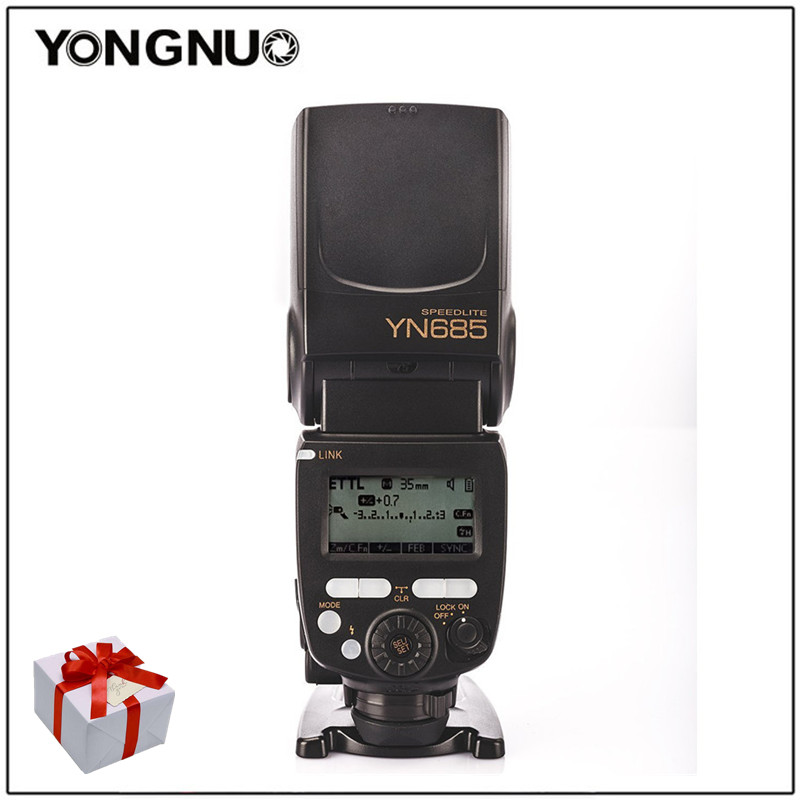 Yongnuo YN685 YN 685 GN60 2 4G System i TTL HSS Wireless Speedlight Flash with Radio