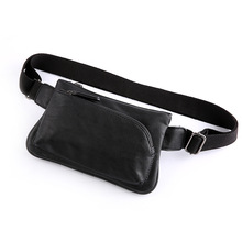 Fashion Mens Shoulder Bag Burglarproof Black Leather Chest USB Charging Crossbody Bags Travel