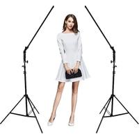 Фото студия комплект 2x60 см ручной затемнения студийная светодиодная подсветка для видеосъемки + 2x осветительная стойка + 2x AC адаптер для DSLR