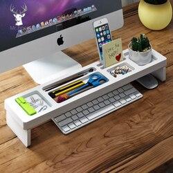 Desk Organizer Stationery Pen Holder Home Office Keyboard Cover Desktop Storage Racks Office School Accessories Organizer Box