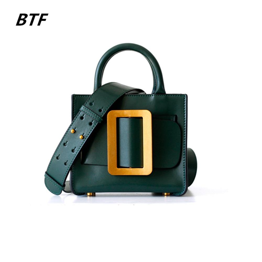 c6efc3fe60 2018 Cuir Main black À Vache Rabat Femmes Petit De Postier En Mode Sacs  Bandoulière green ...