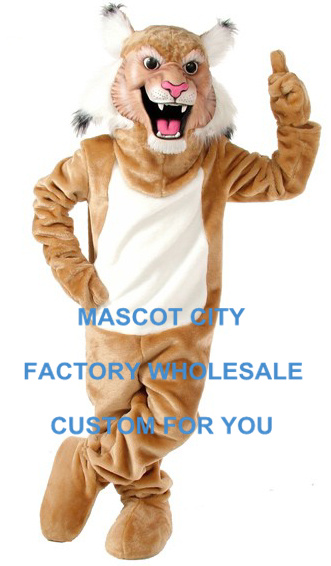 Cool Wildcat/Bobcat Mascot Costume Best Costumes for Holiday Party Carnival Cosply Games Halloween Holiday Stage SW608