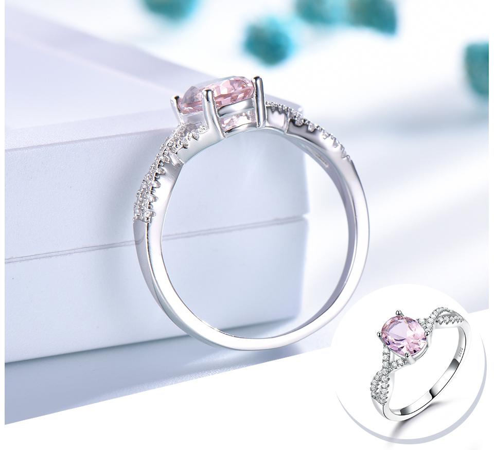 Honyy morganite  925 sterling silver rings for women RUJ099M-1-pc (4)