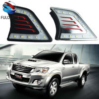 Car Styling High Bright Waterproof Lights LED Daytime Running Lights 12V For Toyota Hilux Vigo 2012