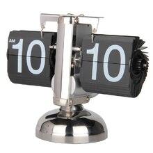 Hot Auto Digital Quartz Flip Page Turning Small Scale Table Clock Desk Mechanism Calendar For Home Decoration Black White обложка page auto praline esse обложка page auto praline