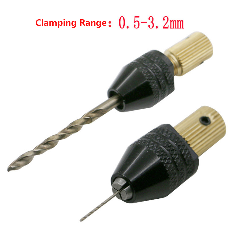 2.0/2.3/3.17/5.0 Mm Mini Drill Chuck Electric Motor Shaft Fixture 0.5-3.2mm Drill Bit Drill Chuck Adapter Micro Drill Chuck Hex