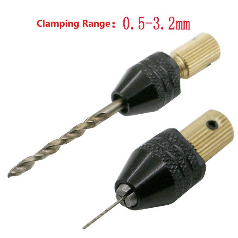 2.3 Mm Mini Drill Chuck Electric Motor Shaft Fixture 0.5mm-3.2mm Small To Drill Bit Drill Chuck Adapter Micro Drill Chuck Hex