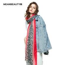 2019 Luxury Leopard Print Women Scarves Shawl Cotton Wrapped Scarf Long Viscose Voile Pashmina Lady Evening Wrap Summer Designer