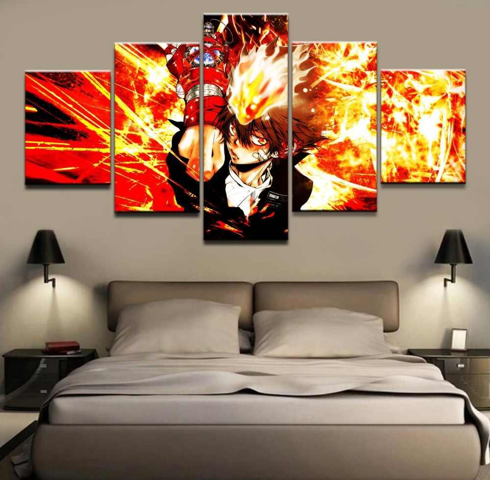 5 miếng Anime Katekyo Hitman Reborn Tường Nghệ Thuật Hình Ảnh Trang Trí Nội Thất Phòng Khách Canvas In Tường Hình Ảnh In Trên Vải